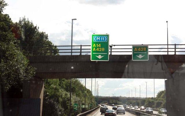 Approaching the M11 junction 31