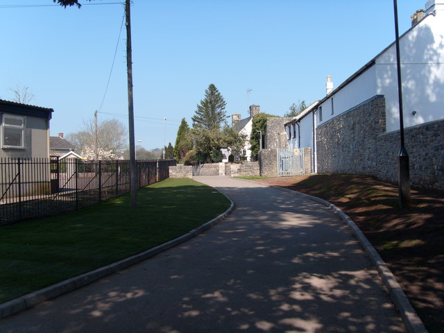 Roadway leading from park