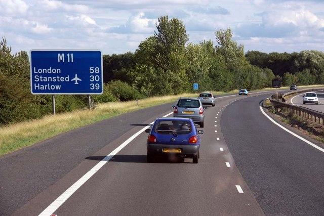 Motorway M11 junc 14