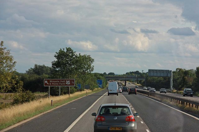 M11 Approaching junction 12