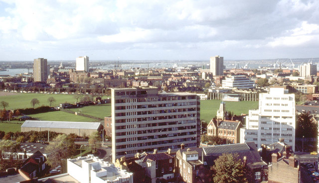 View from Horatia House, Meriden Road, Portsmouth, 1981 (2)