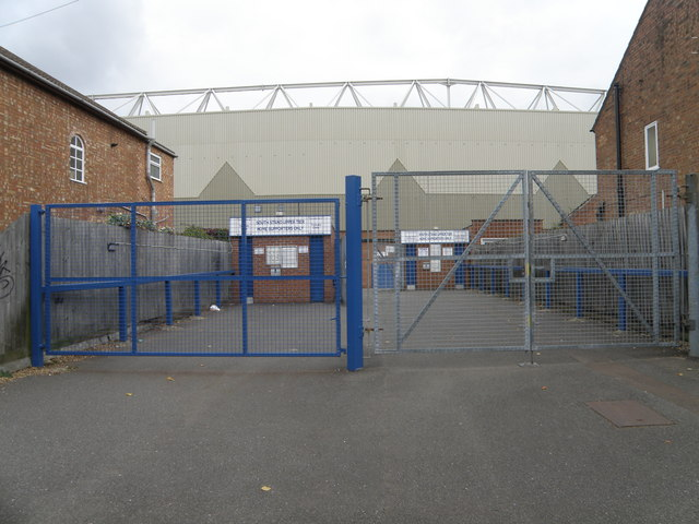 Glebe road entrance to the Posh ground