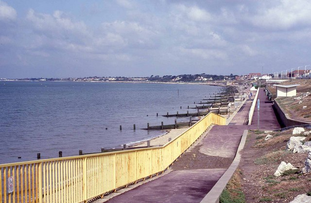 Lee-on-the-Solent - promenade and beach (1992)