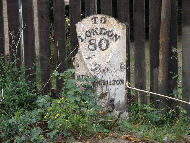 Milepost on London Road