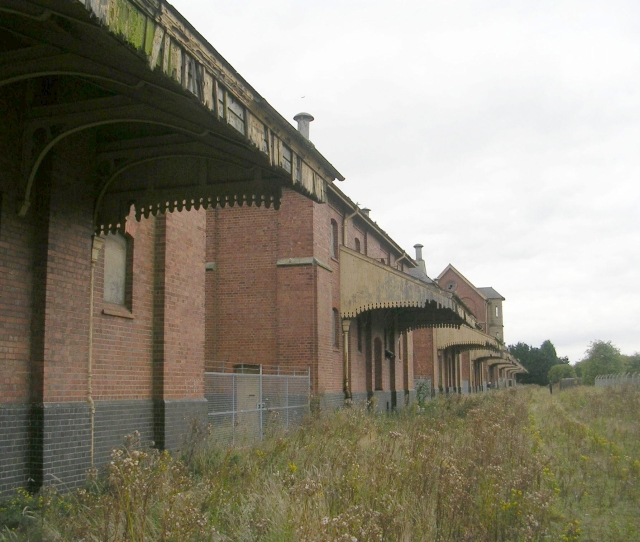 The back  of Sleaford Maltings
