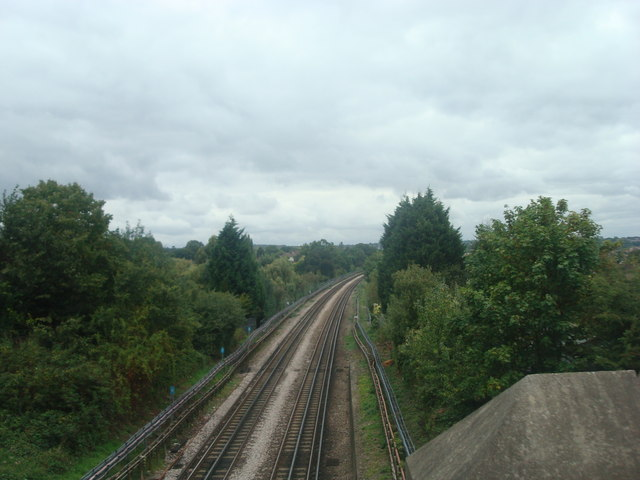 Railway line at Buckhurst Hill