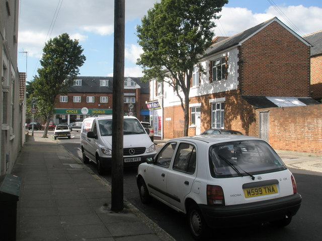 Looking along Torrington Road towards London Road