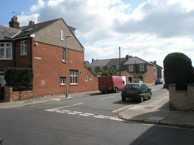 Junction of  Randolph Road and Torrington Road