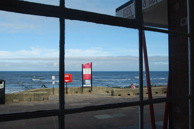 The sea, from the Rendezvous Cafe, Whitley Bay