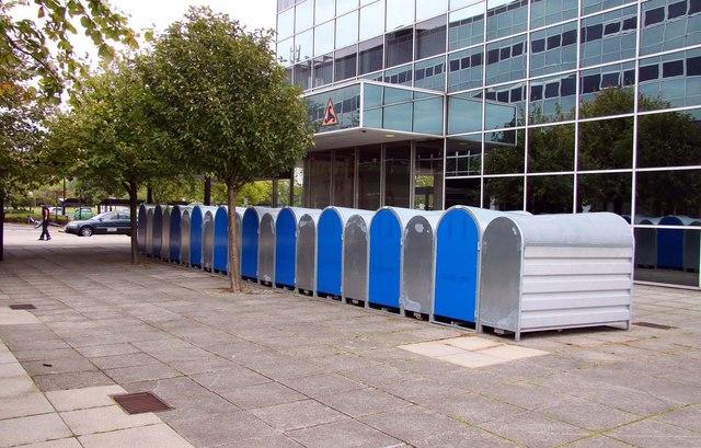 Lockable cycle racks at Milton Keynes Station