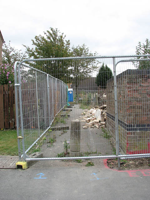 Fence surrounding redevelopment site