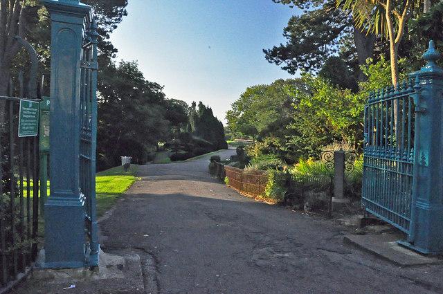 Entrance to Alexandra Park off Rectory Road - Penarth