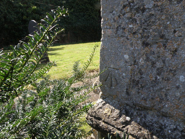 Bench mark on Molesworth church