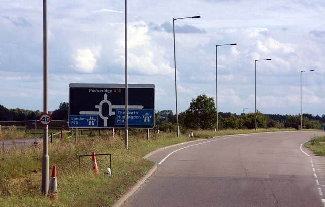 Joining junction 11 of the M11