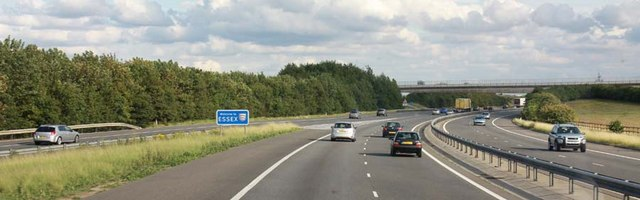 Essex border on the M11