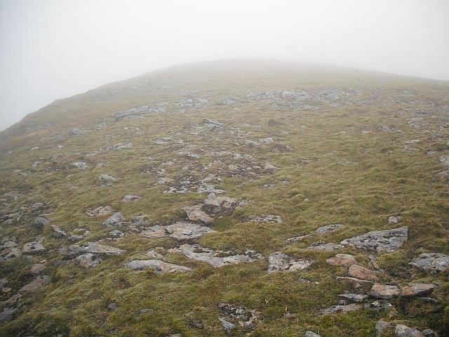 Top of the south ridge of Beinn a' Chreachain
