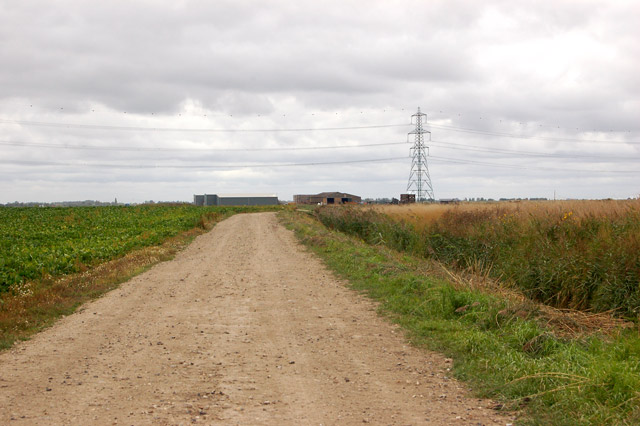 The track to Martins Farm from Cross Drain Farm