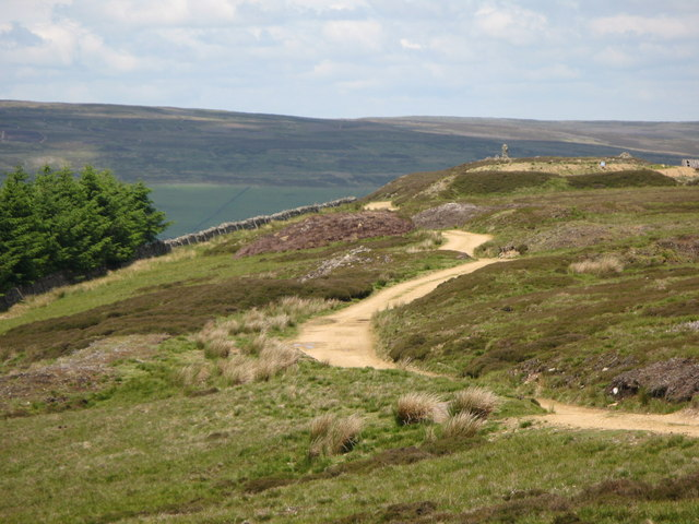 Track and moorland above Faw Side