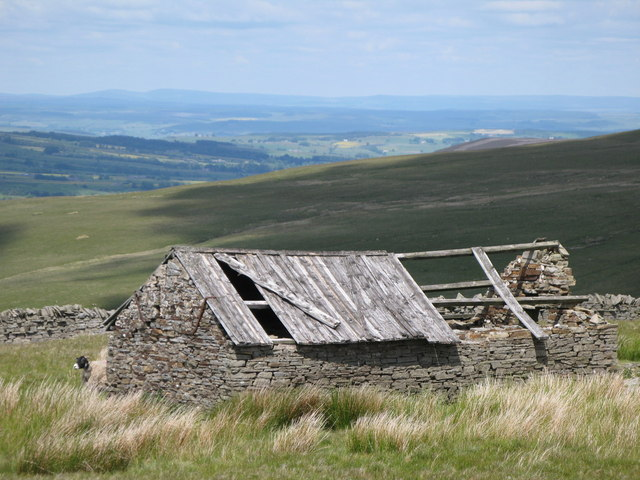 Ruined barn above Faw Side (4)
