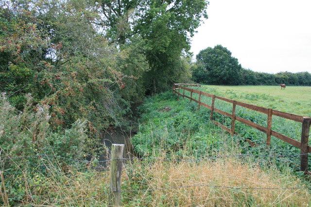 Langhat Ditch after passing under Calcroft Lane