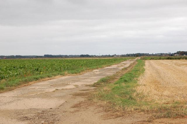 The concrete track east of Sedgedrove Farm