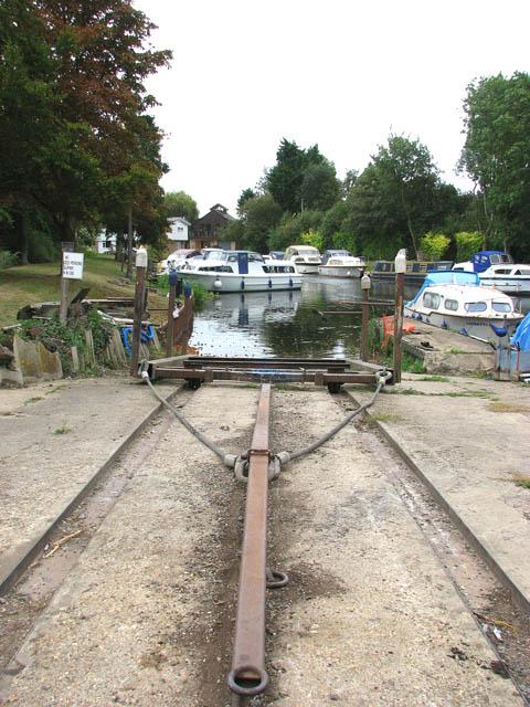 Slipway at boatyard