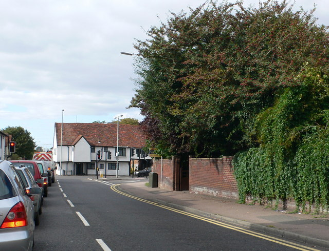 Approaching the junction of the A507 and the B656 in Baldock