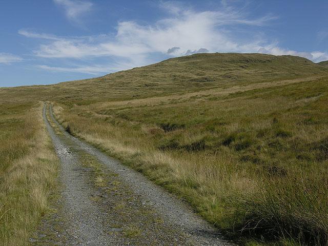 Water company track on Bryn y Beddau