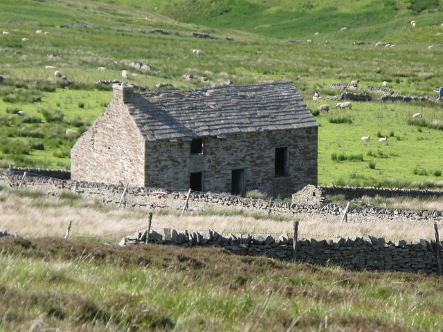Ruined cottage in the Byerhope Valley