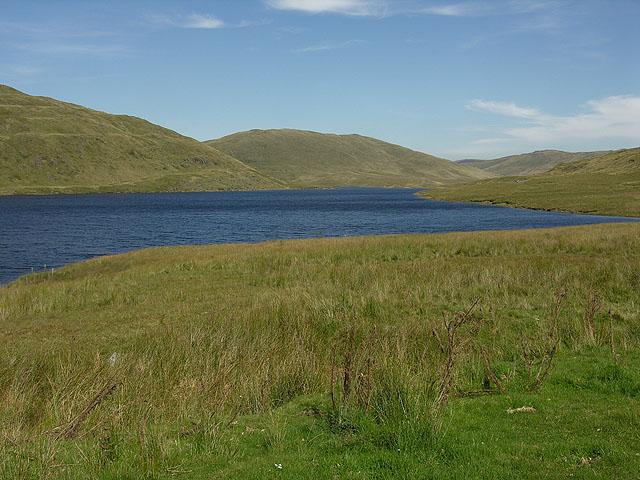 View down Nant-y-moch reservoir