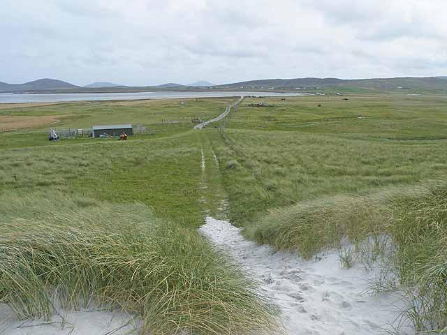 Track across the Machair Leathann
