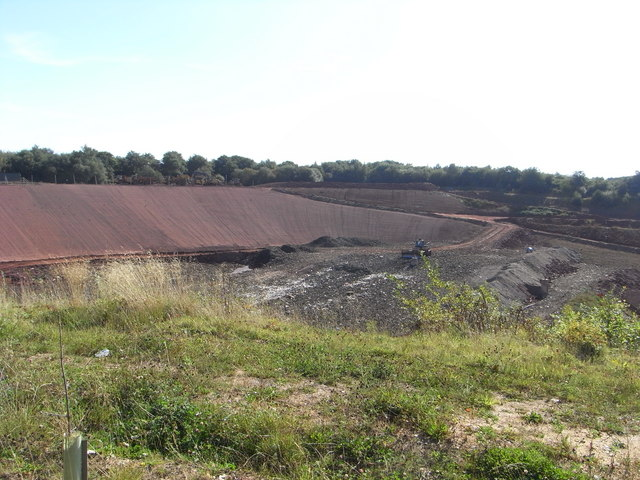 Landfill in a former clay pit.