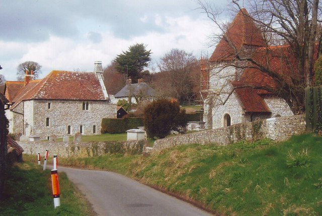 Old Rectory and parish church, Westdean, East Sussex