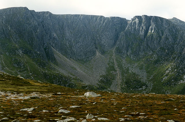 View towards the north east face of Lochnagar