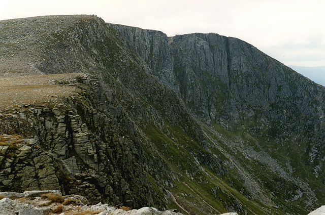 Looking along the cliffs of Corrie of Lochnagar