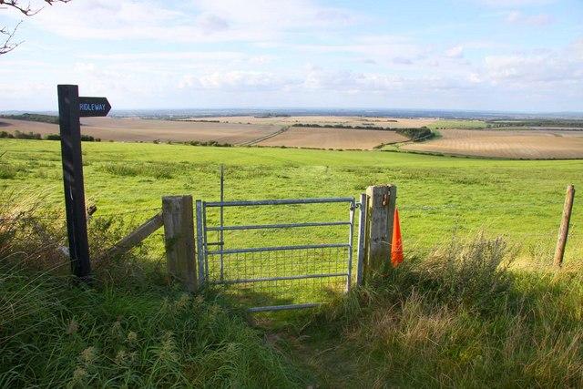 Bridleway from the Ridgeway