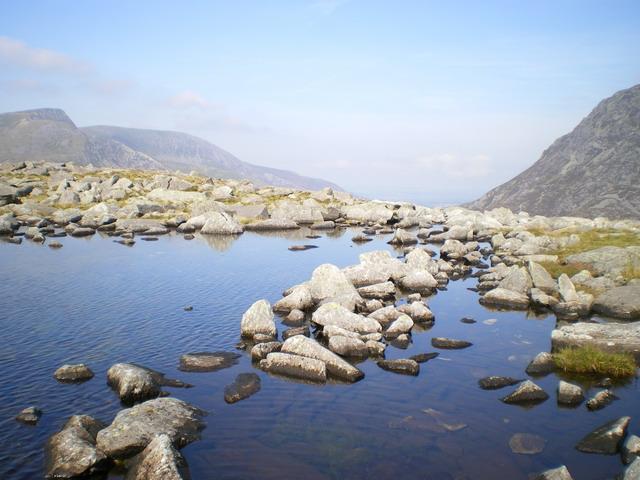 The outflow of Llyn Bochlwyd