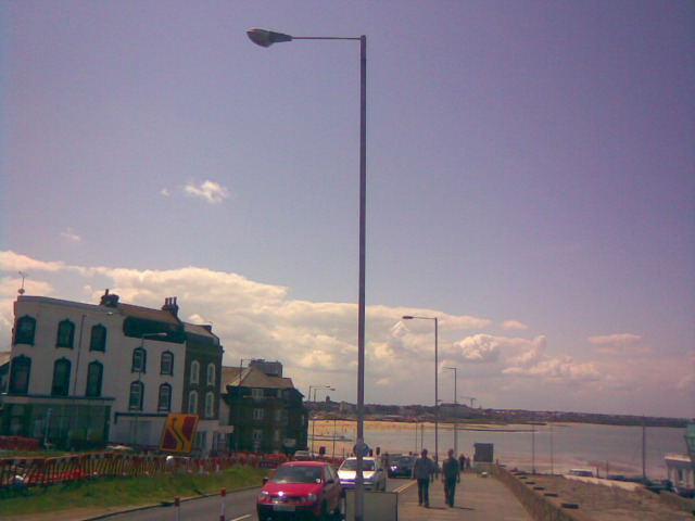 View down Fort Hill to Margate Beach