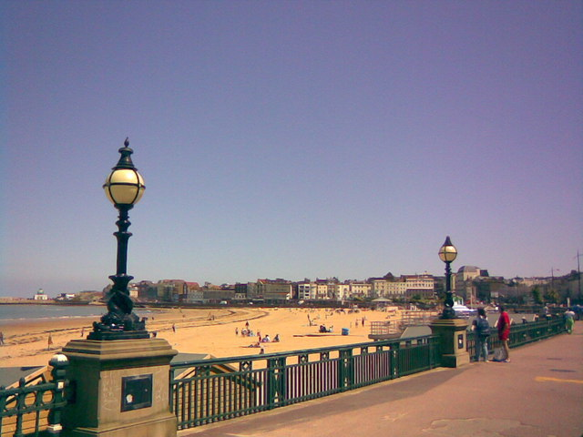 View of Margate Beach from Marine Terrace