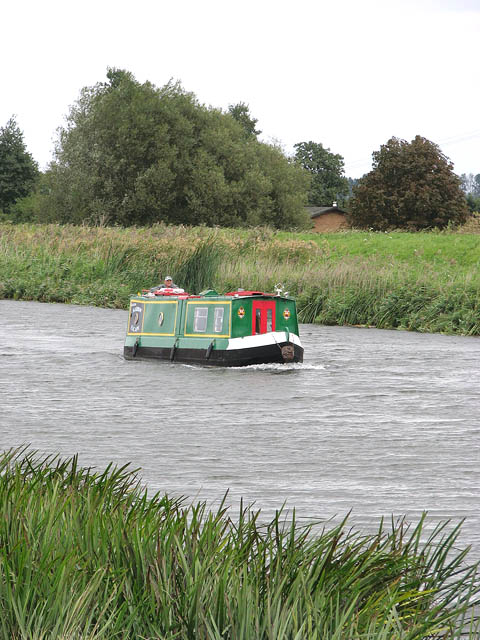 Canal boat on the River Great Ouse