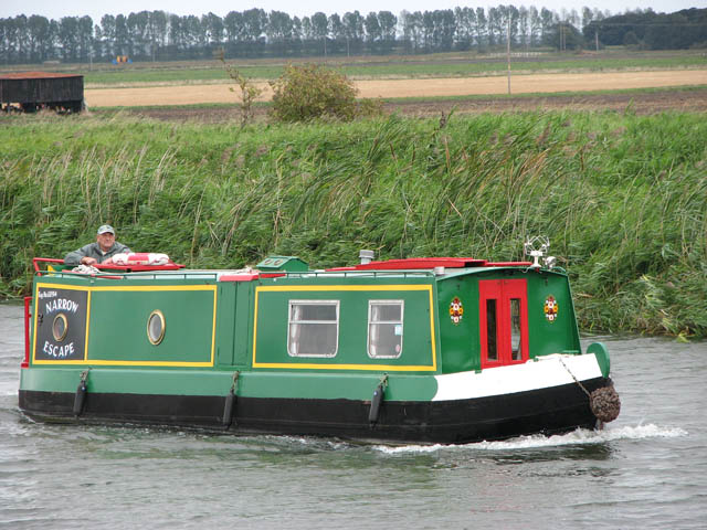 Canal boat 'Narrow Escape'
