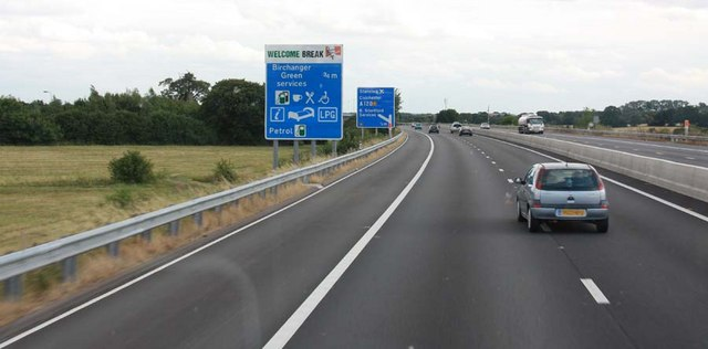 M11 approaching junction 8