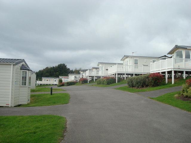 Caravans at Devon Cliffs Holiday Park