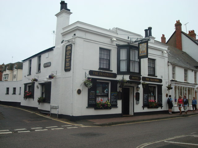 The Feathers public house, Budleigh Salterton