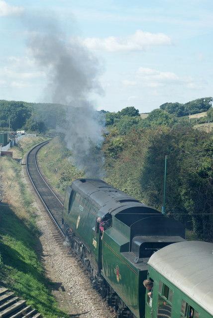 Manston Departs From Herston Halt, Dorset