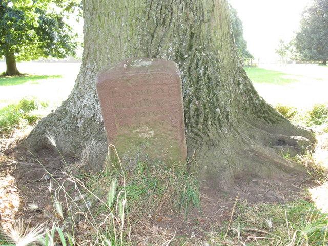 Commemorative stone in the Holnicote estate