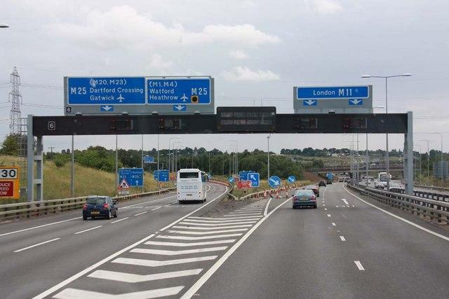 M11 junction 6