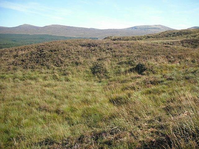 Moorland behind Creag Maronaig