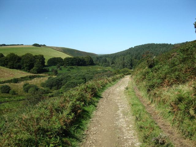 Two Moors Way near Sherdon Hutch