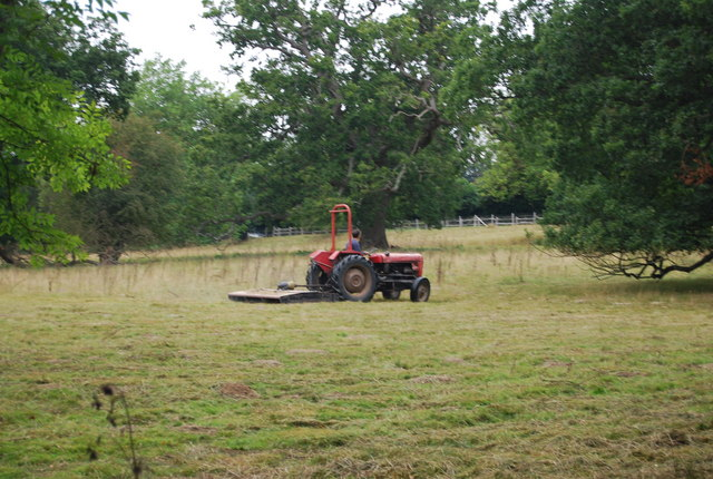 Tractor, west of Old Church Rd